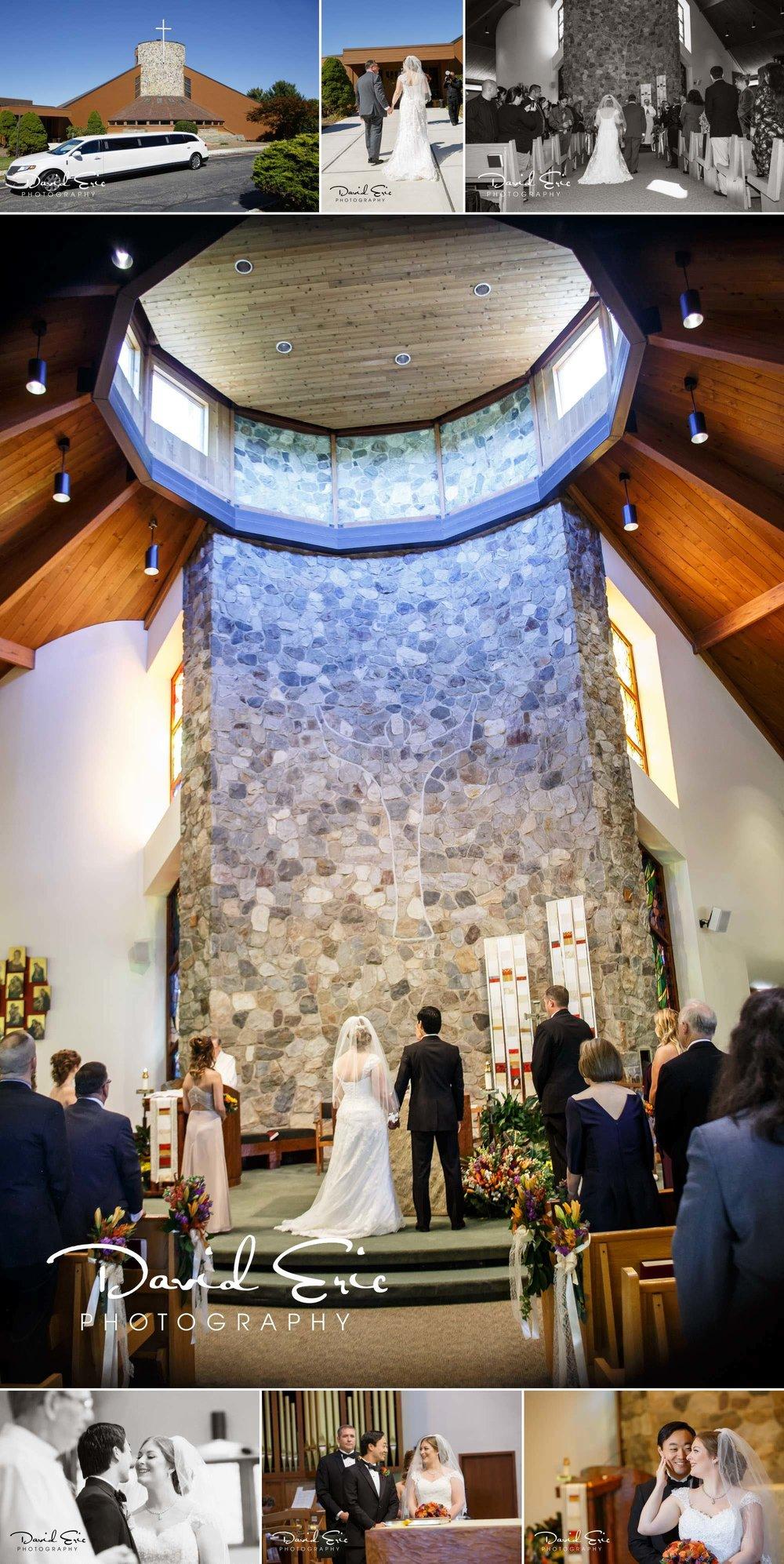 Lake Valhalla Club Wedding photos of Ceremony at Resurrection Parish