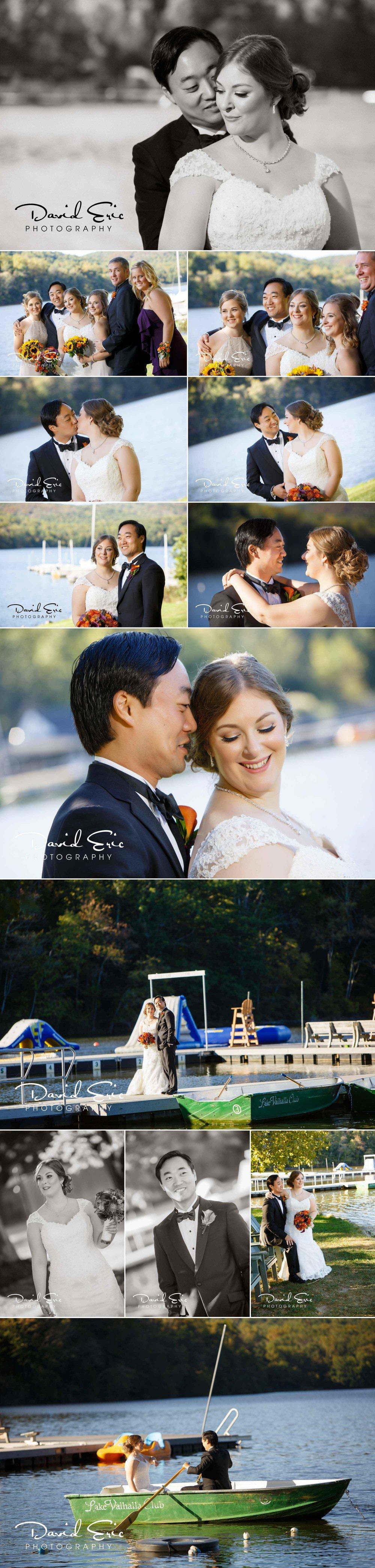 Lake Valhalla Club wedding bride and groom photos