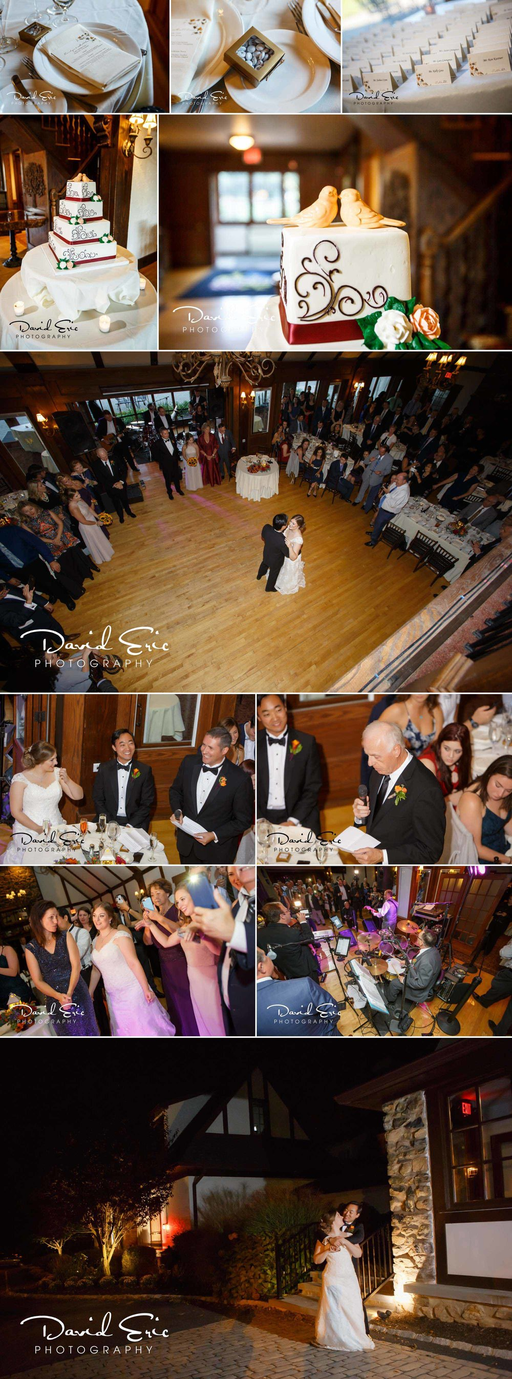 Lake Valhalla Club wedding reception photos