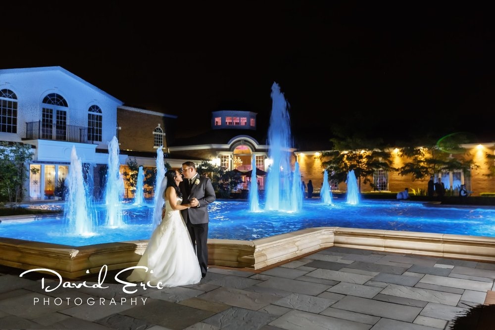 New Jersey wedding venue The Rockleigh Country Club nighttime photo