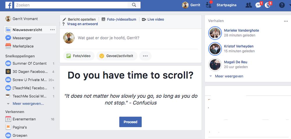 Blokkeer je Facebook Newsfeed zodat je niet afgeleid geraakt.
