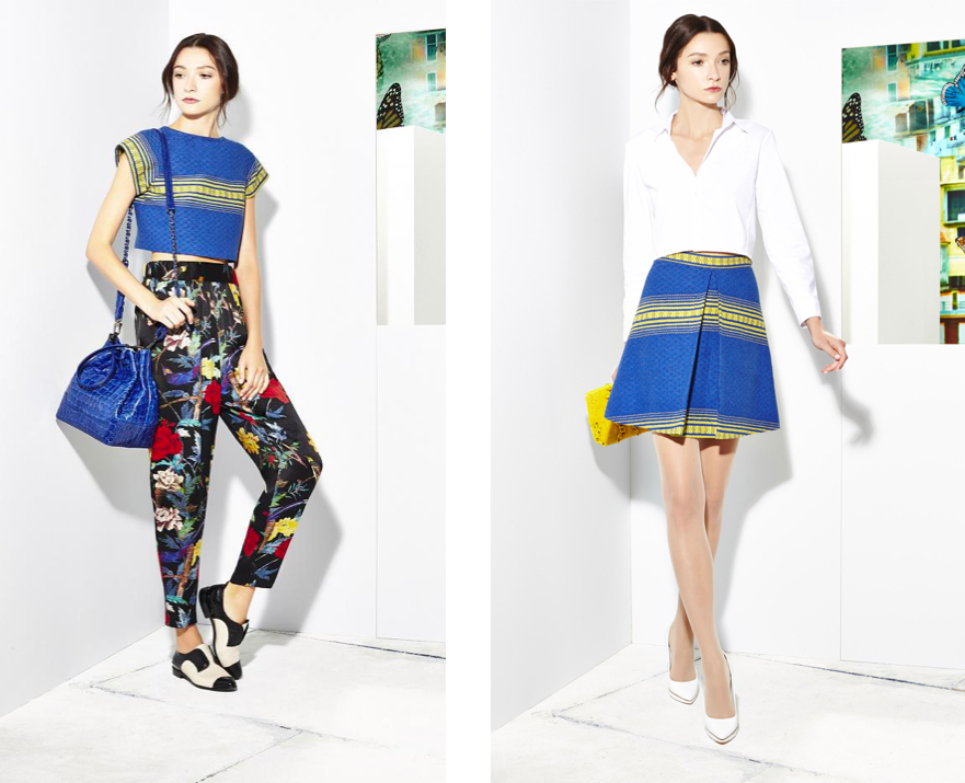 ALICE + OLIVIA: RESORT 2015   Technique . •  Handwoven  //   Provenance  •  Mexico //   Material  •  Sustainable Cotton
