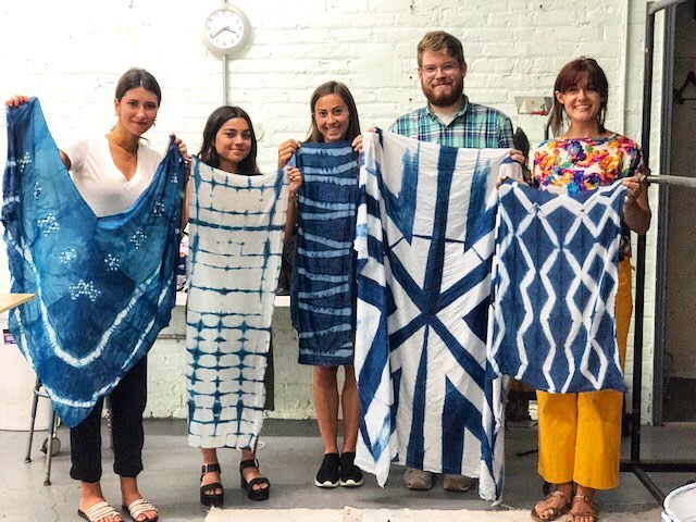 Piece & Co had the amazing opportunity to participate in an indigo shibori workshop with @curious_corners_studio yesterday and we absolutely loved it. Definitely check them out!