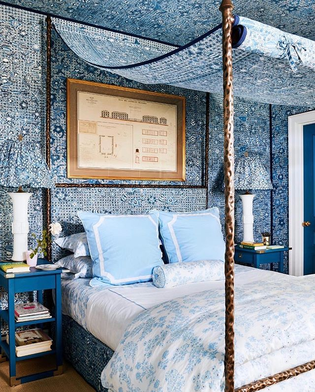 @archdigest featuring @milesredd and his brilliant use of one of our hand printed batiks from Indonesia. This batik is crafted using wax and a resist dye method of natural indigo to create a truly unique textile.