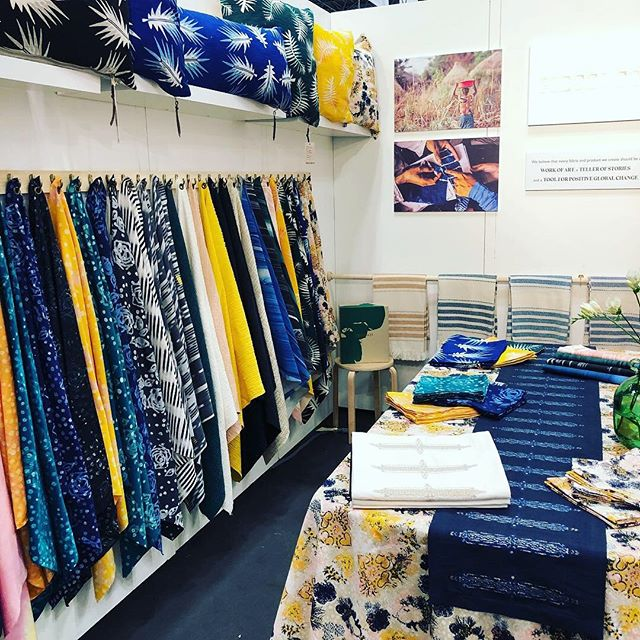First day of @ny_now Come check out the launch of our new home collection as well as all our beautiful artisan crafted textiles! Booth 2748 through Wednesday February 6