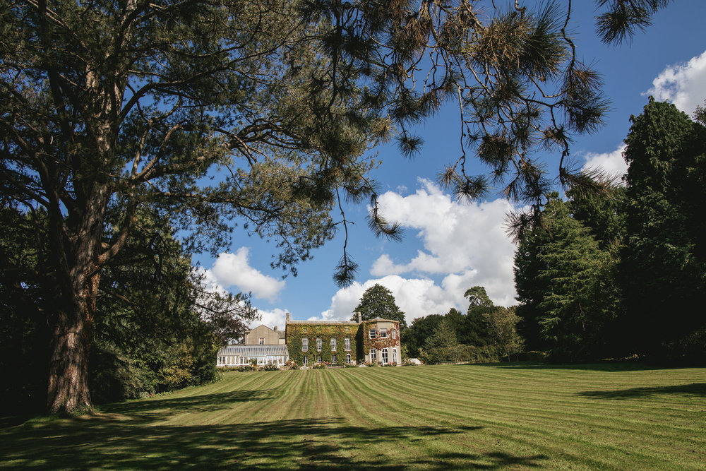 Outdoor wedding at Pennard House, Somerset_view of the house