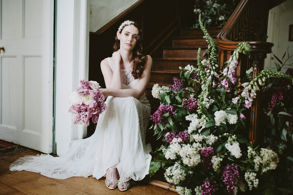 Glamorous vintage editorial at Eggington House - Images by David Jenkins