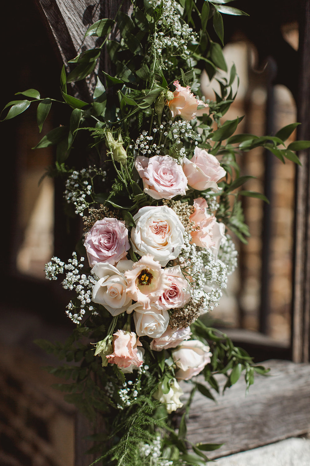 Eggington House marquee wedding_church flowers