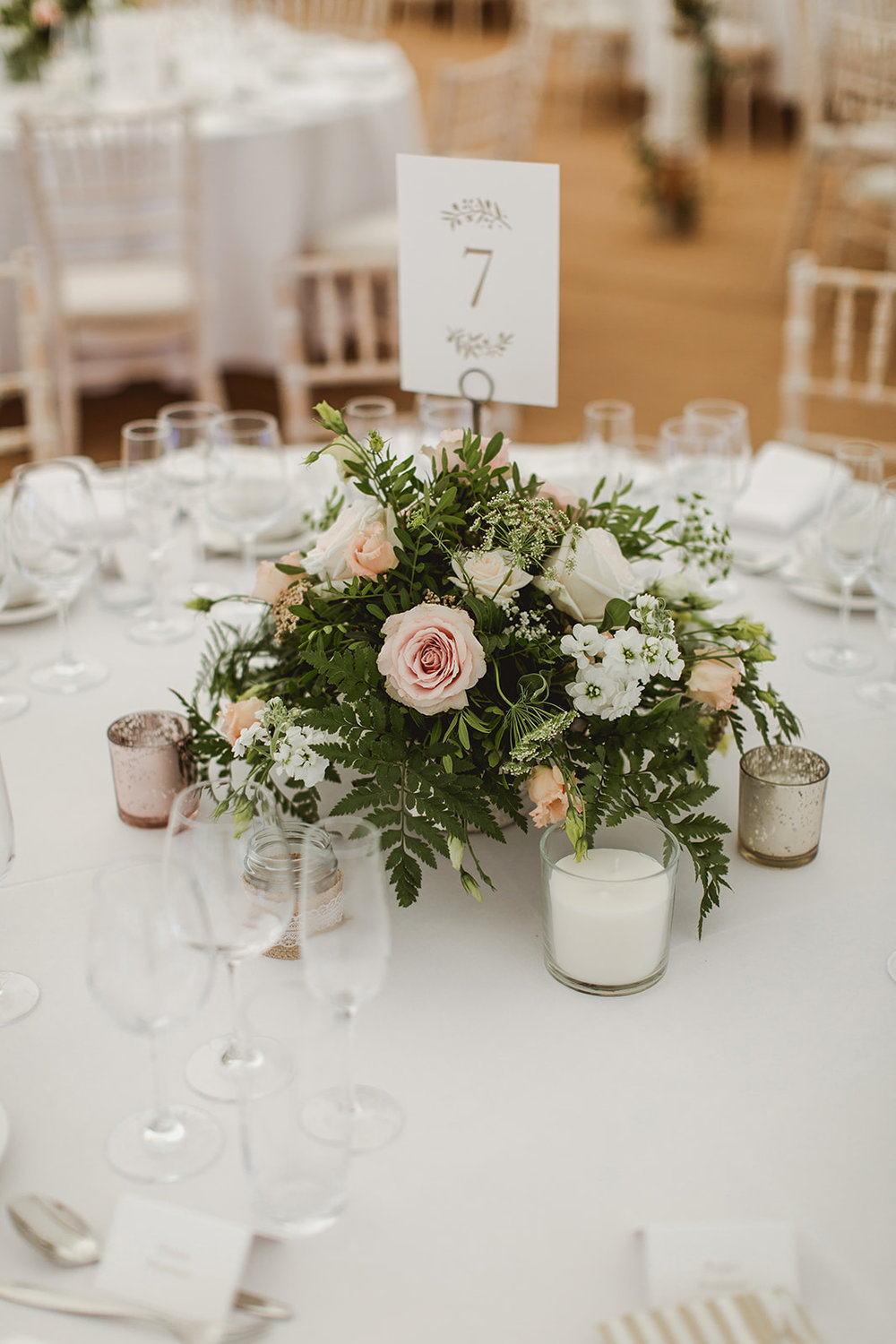 Eggington House marquee wedding_table decorations