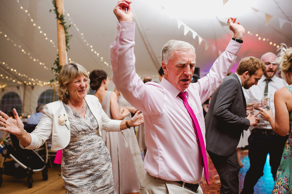Eggington House marquee wedding_guests dance and have fun