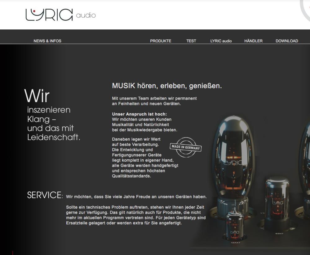 Lyric Audio - Noll & Deyerling GbRStruthweg 6, 36381 SchlüchternGermanyPhone: +40 6661 153 84 13Email: contact (at) lyric-audio.deWeb: www.Lyric-Audio.de