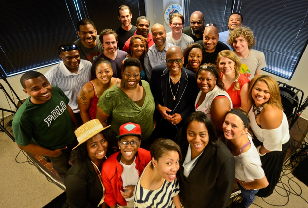 Kyndle in the bottom right corner at The Consortium MMT during the  SoulRight Music Mentorship Program  in 2014.
