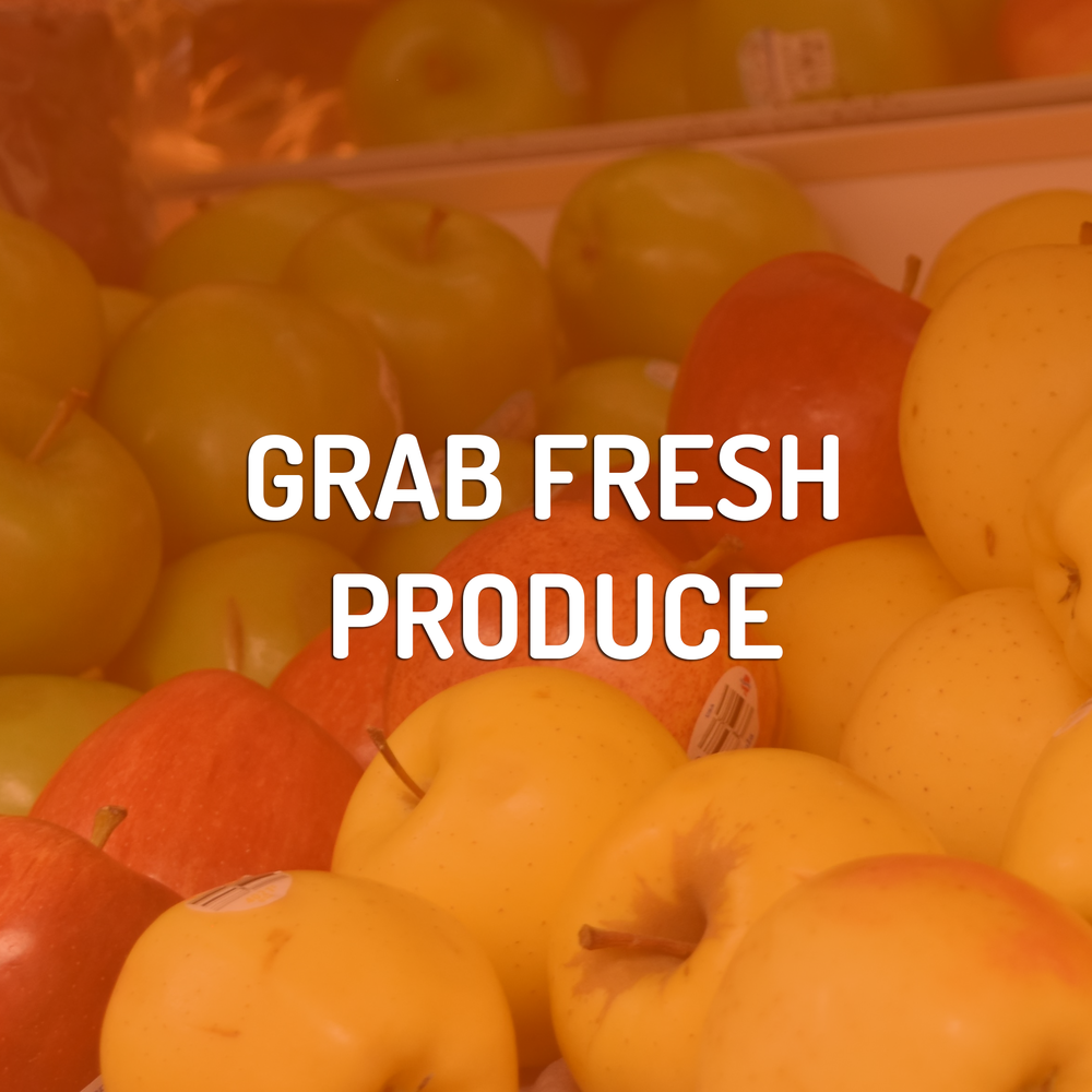 Complete your meal by picking up fresh veggies and fruits, right at the corner store!