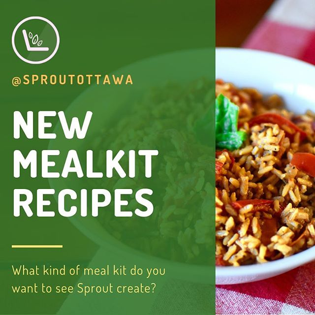 HEY HEALTHY FRIENDS!!!! Sprout is looking to cook up some new meal kits for you in 2019 and want your help!! Comment below what kind of meal kit you would like us to make! #sproutottawa#uottawa#enactus#health