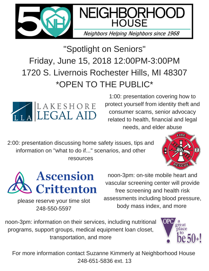 _Spotlight on Seniors_Friday, June 15, 2018 12_00PM-3_00PM1720 S. Livernois Rochester Hills, MI 48307.png