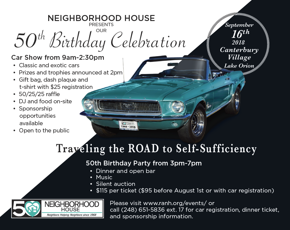 Th Birthday Celebration Car Show And Party Rochester Area - Car show trophies dash plaques