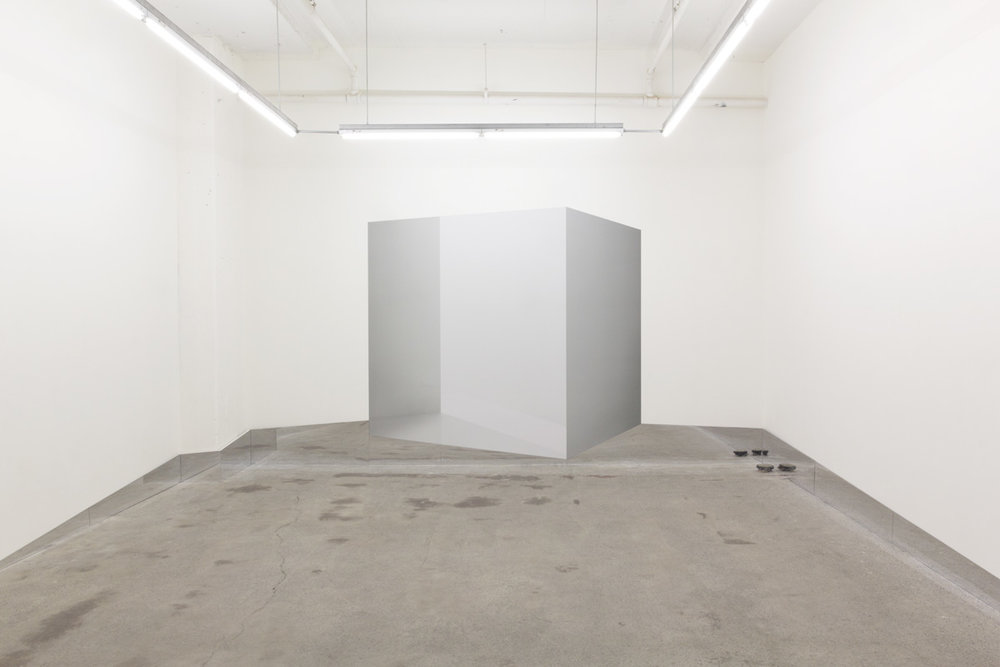 Caroline Cloutier,  Contre-espace 1 , 2016, photographic installation (digital printing on vinyl, mirror)