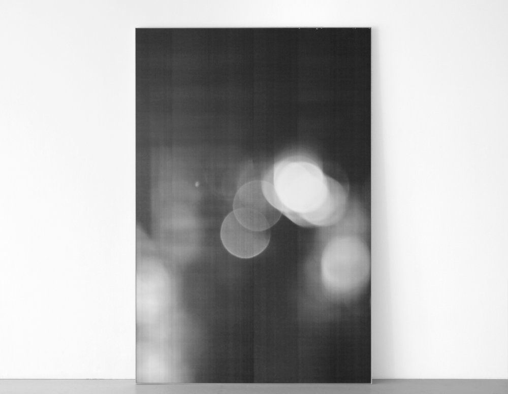 "Jim Verburg,  Untitled (Seventh Year) , 2011, enlarged and mounted photocopy, 96"" x 63"" (244 x 150 cm)."