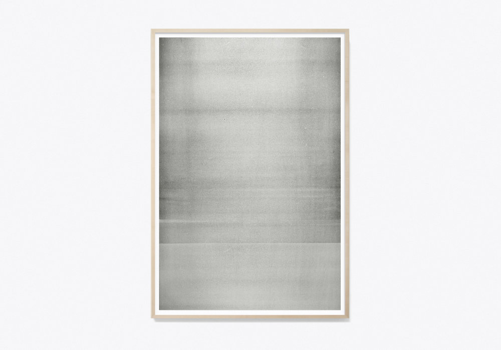 "Jim Verburg,  Untitled (Reflected/Repeated) #5 , 2014, oil based ink painted on newsprint, 36"" x 24"" (91 x 61 cm)."