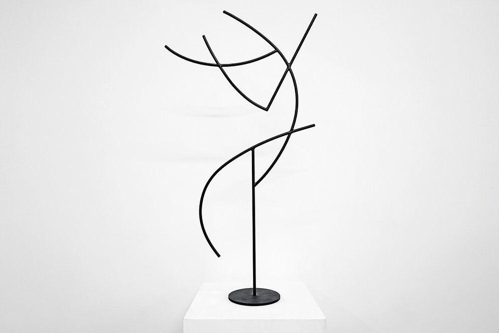 Jacob Whibley,  digger 1 , 2017, painted steel, variable dimensions