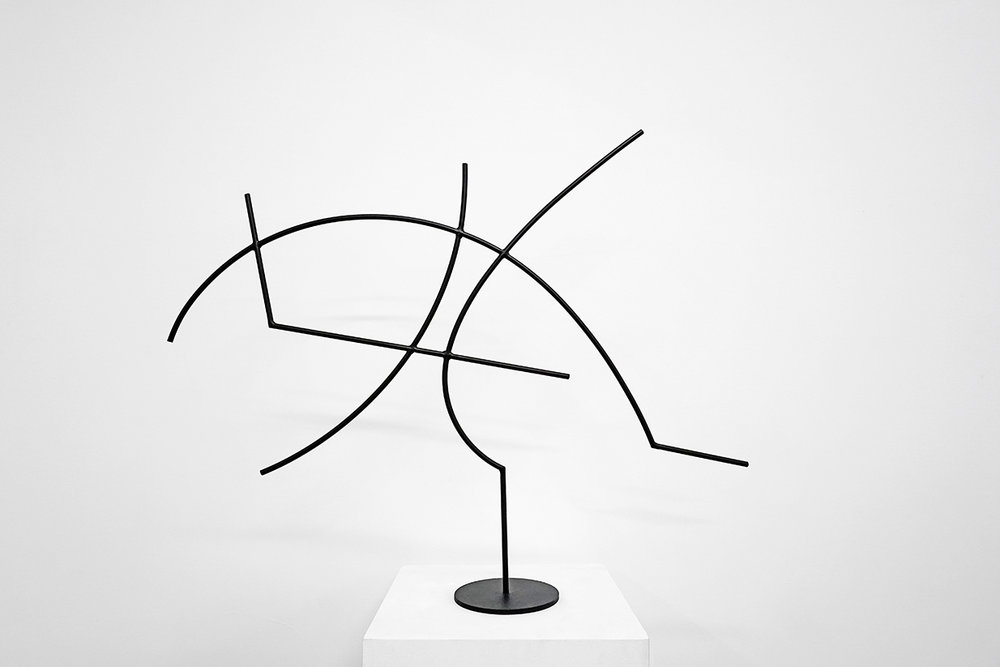 Jacob Whibley,  digger 5 , 2017, painted steel, variable dimensions