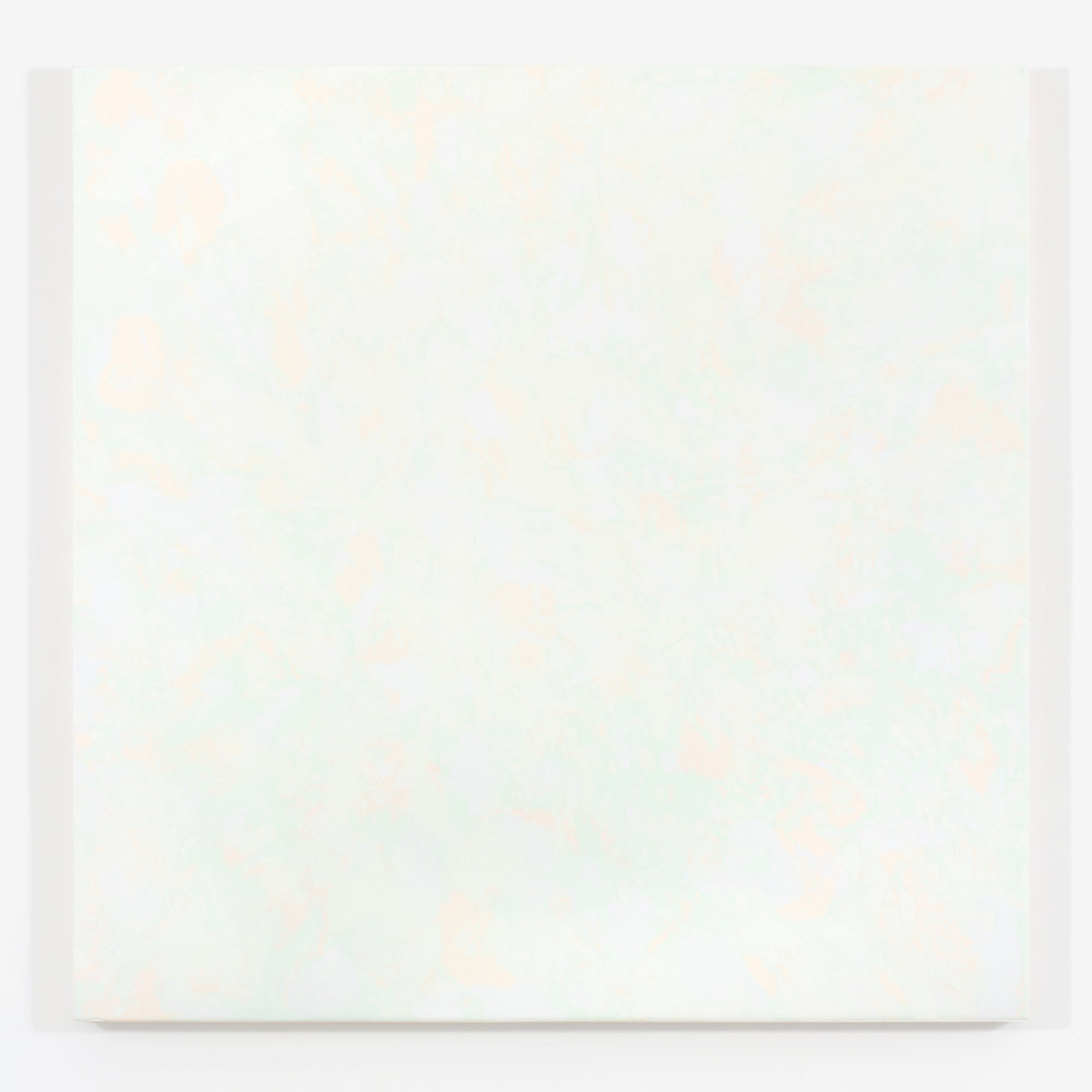 "Pierre Julien,  Gathering of the Clouds 1 , 2015, plaster and acrylic on wood panel, 48"" x 48"" (122 x 122 cm)."