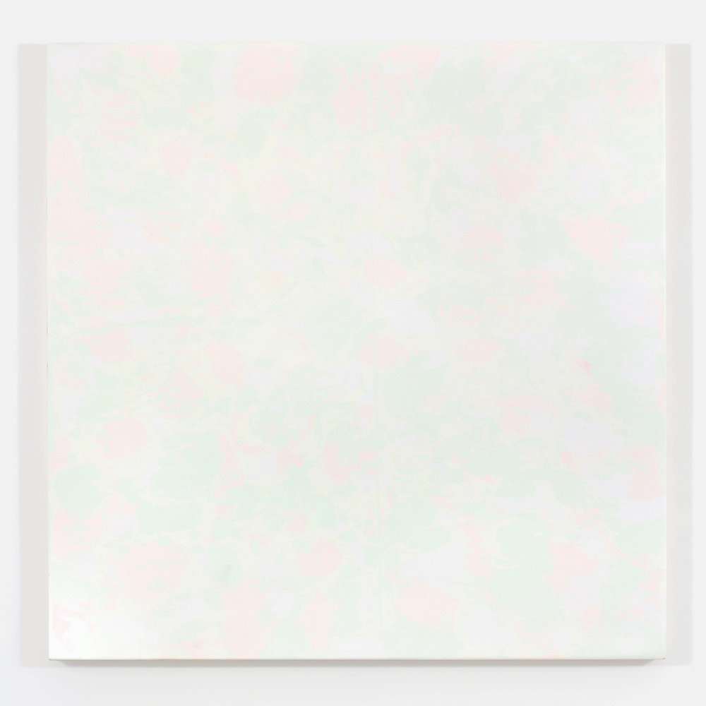 "Pierre Julien,  Gathering of the Clouds 2 , 2015, plaster and acrylic on wood panel, 48"" x 48"" (122 x 122 cm)."