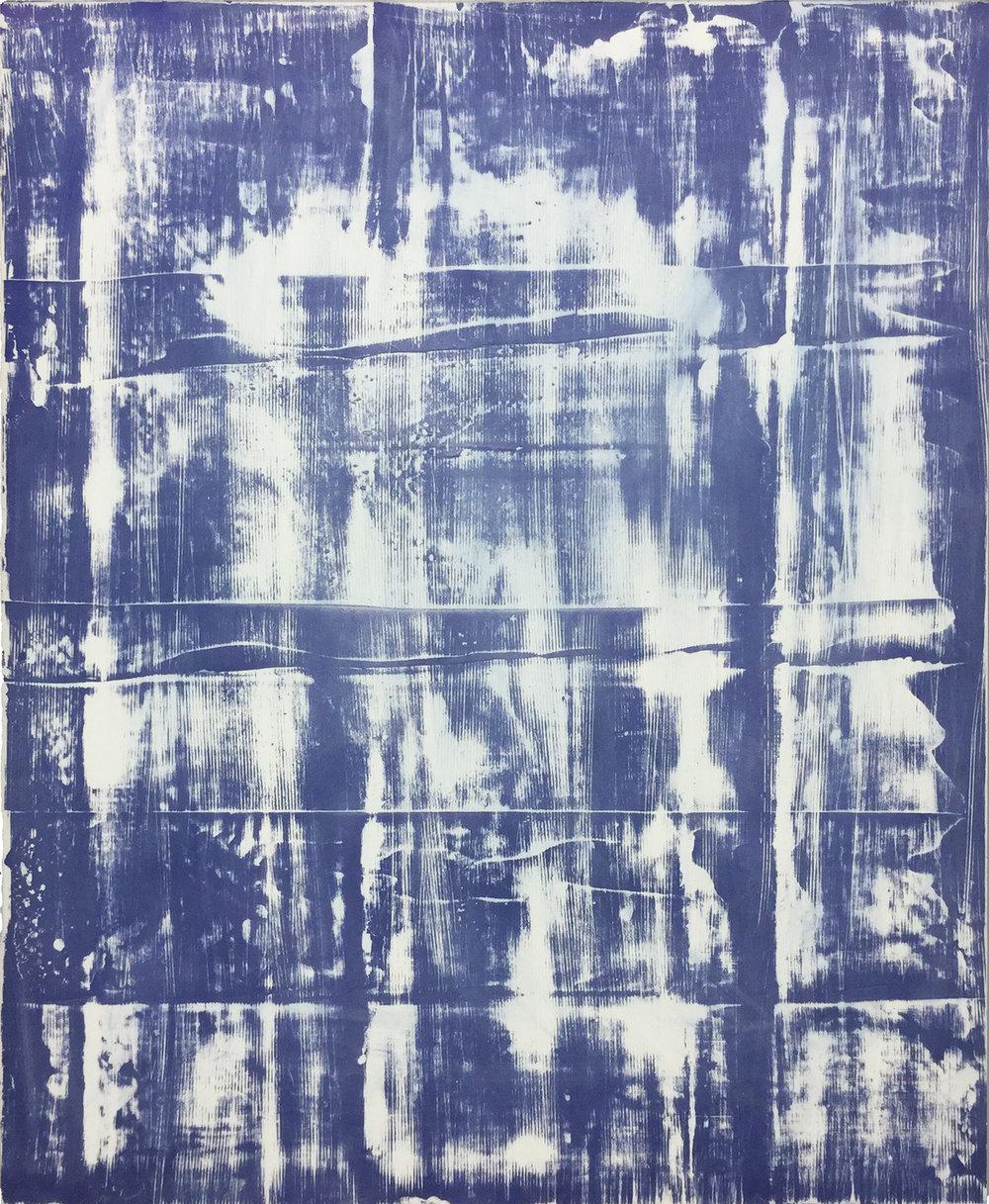 "Offcut 02, 2017, plaster and spray paint on gypsum, 30 X 24"" (76 X 61 cm)"