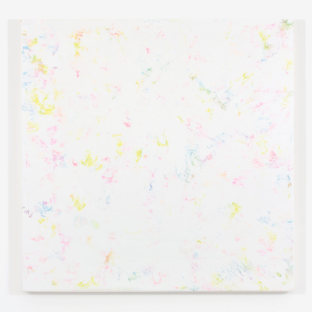 """White Matter no. 1, 2015, plaster and acrylique on wood, 48 X 48"""" ( 122 X 122 cm)"""