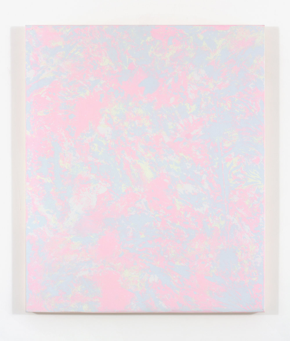 """Cotton Candy, 2015, plaster and acrylique on wood, 36 X 30"""" ( 91 X 76 cm)"""