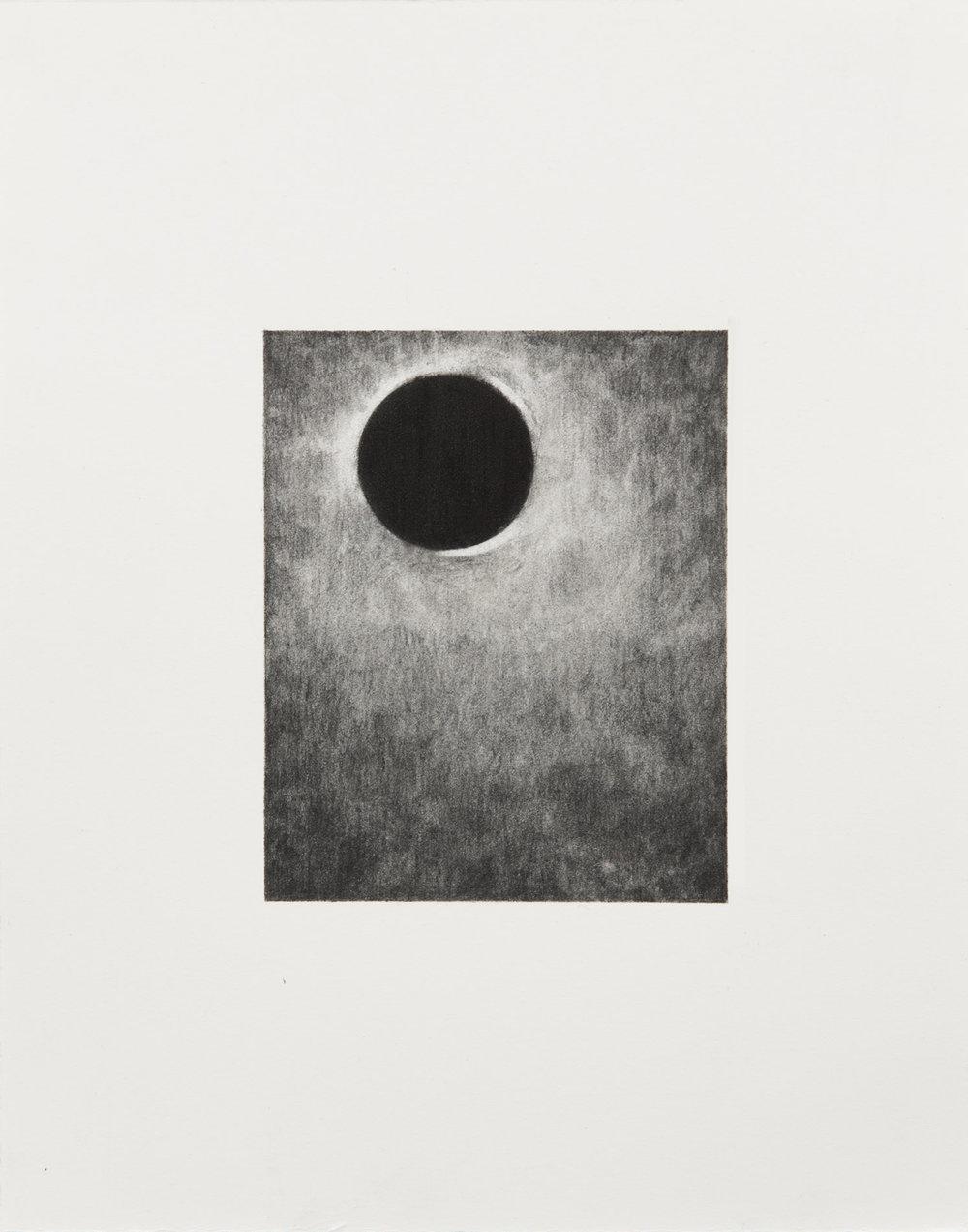 "Carl Trahan,  O   2,  2018, graphite on paper, 5"" x 4"" (12 x 10 cm)"