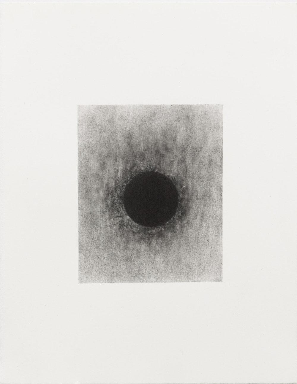 "Carl Trahan,  O   4,  2018, graphite on paper, 5"" x 4"" (12 x 10 cm)"