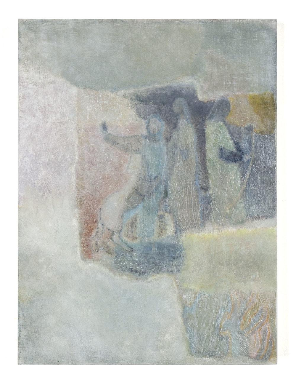 """Laurence Pilon,  Excursion , 2018, oil on panel, 16"""" x 12"""" (41 x30.5 cm)"""
