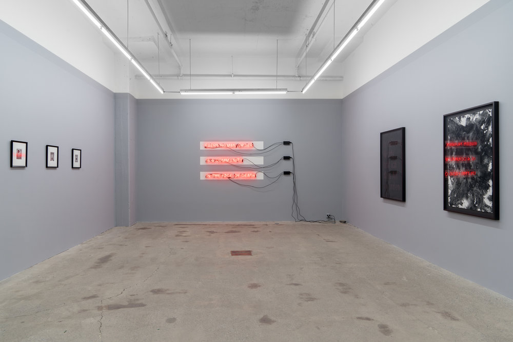 Carl Trahan, Das Gleitende - 2 , 2018, exhibition view, Galerie Nicolas Robert, photo : Jean-Michael Seminaro