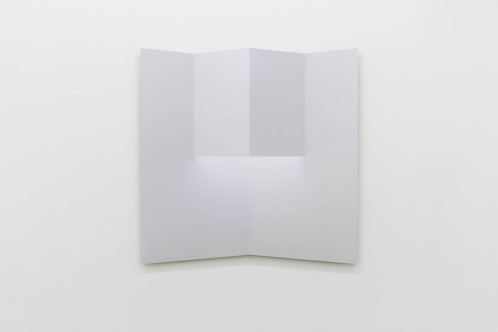 """Caroline Cloutier,  Pliage 1 , 2018, ink on paper mounted on aluminum, 42.5"""" x 42.5"""" (108 x 108 cm)"""