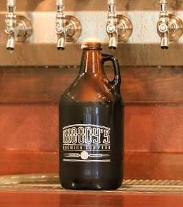Woody's Brewing Company growler
