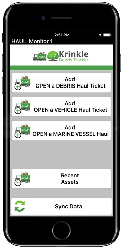 Haul Monitor's Screen