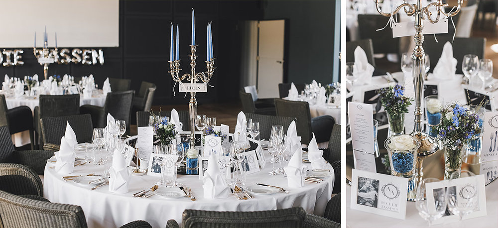 Tischdeko im Schlosssaal