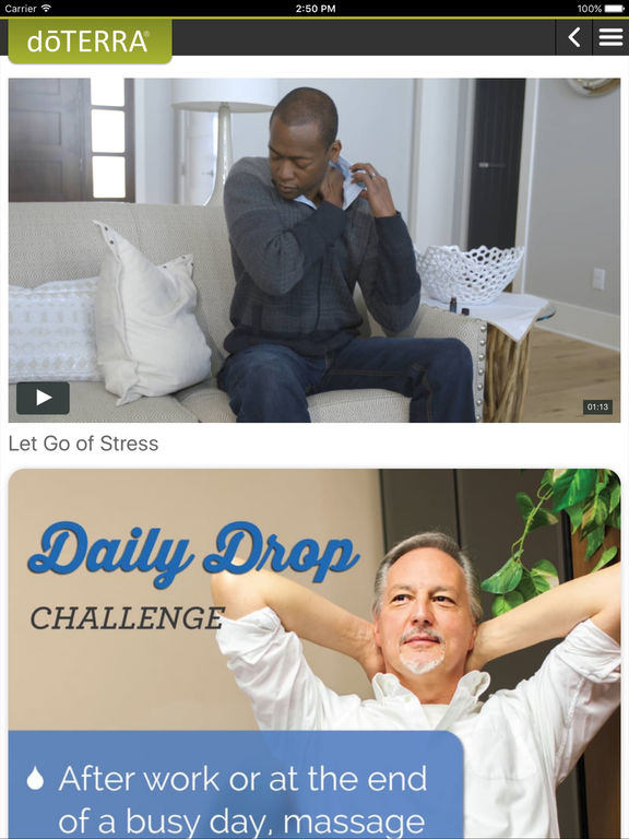 The Daily Drop app is available free of charge direct from doTERRRA for you to run on your iPhone, iPad, or Android smartphone / tablet.