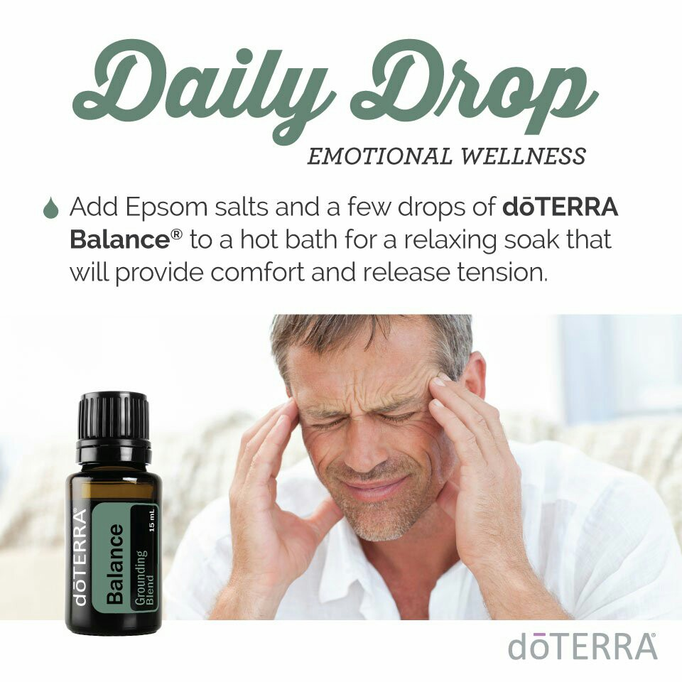 Using doTerra Balance essential oil to provide comfort and release tension