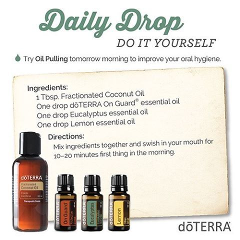 Try doTERRA Oil Pulling tomorrow morning to improve your oral hygiene