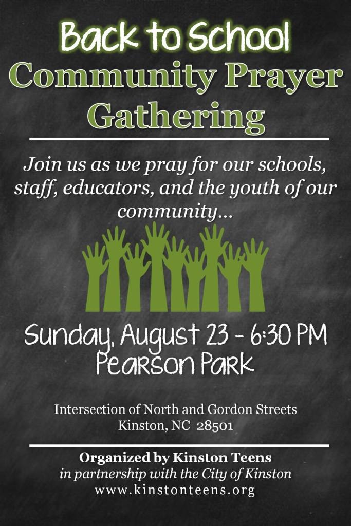 Back to School Community Prayer Gathering flyer