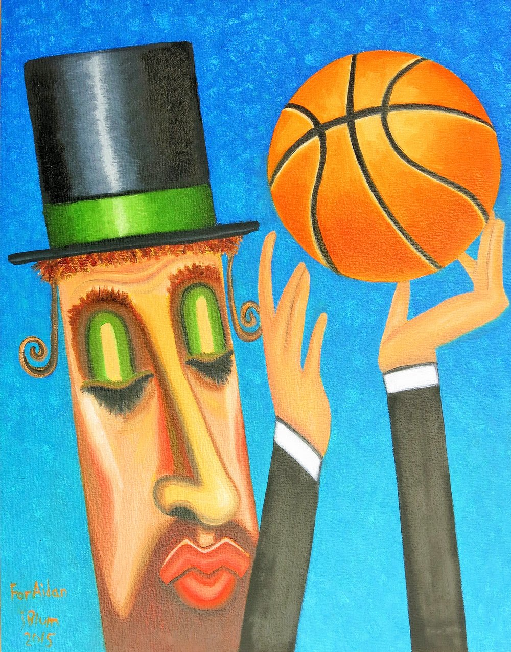 Rabbi Blessing a Basketball.JPG