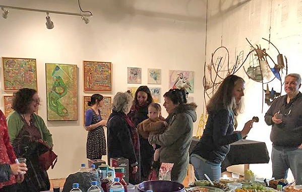 Opening party—the start of a fun two weekends of art in the neighborhood, photo: Dara Oshin.