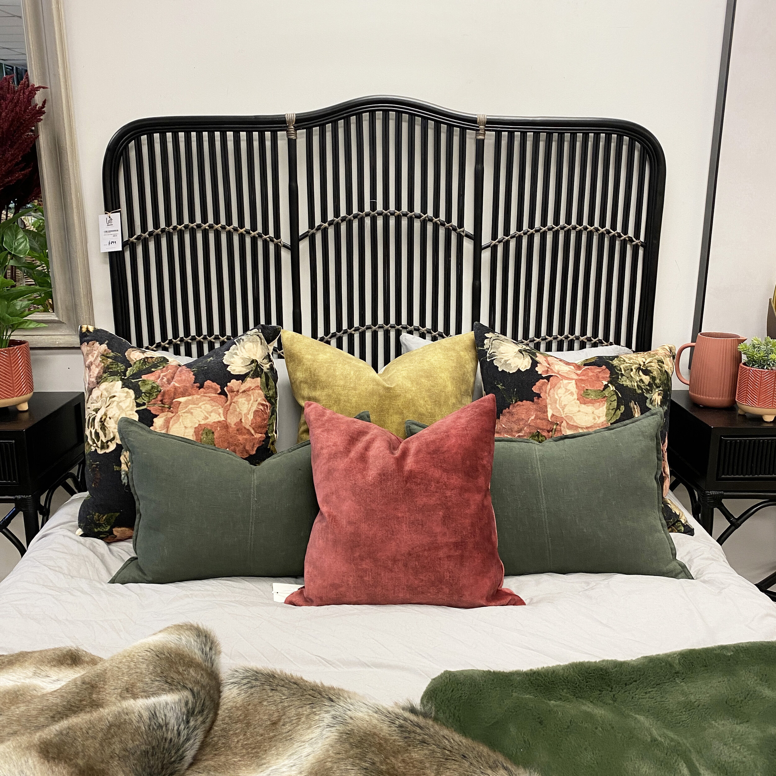 Denver Rattan Headboard Loft Furniture New Zealand