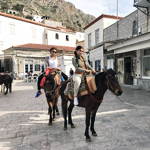 - Riding ponies while touring one of the three islands during our trip to Athens. We got a little queasy on the boat ride, but it was definitely worth it!