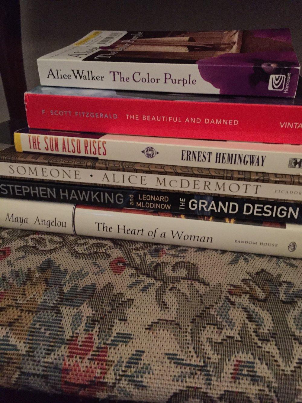 Books always, books everywhere.