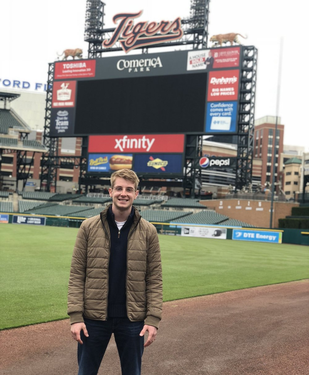 Cameron Podolski - Senior AdvisorFormer Director of MarketingCam is a senior minoring in marketing from Macomb, MI. Formerly the SMA Director of Marketing, he is excited to assist this years crew with his knowledge and experience. Over the summer, Cam will be employed by the Detroit Tigers on their Event Staff team. He roots for those Maize & Blue up north and the Detroit Red Wings.