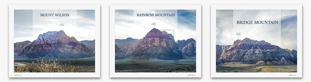 Mount Wilson, Rainbow Mountain, Bridge Mountain