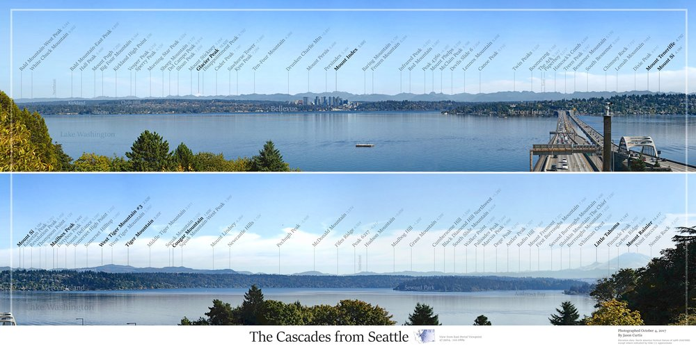 Cascades from Seattle image layout